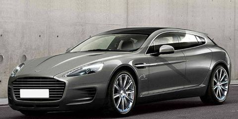 This Aston Martin Rapide, stretched by Bertone, keeps the car's base V12 engine.