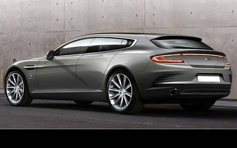 The stretched Aston Martin Rapide was commissioned by a British collector.
