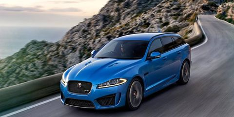 The 2015 Jaguar XFR-S Sportbrake has been revealed ahead of its Geneva motor show debut.
