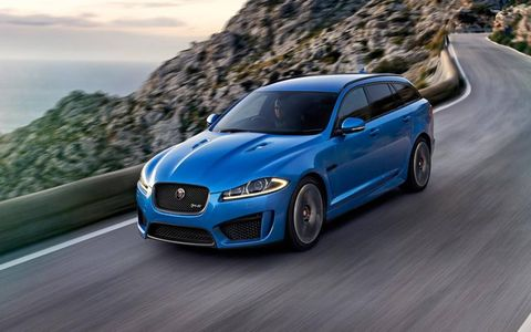 The 2015 Jaguar XFR-S Sportbrake has been revealed ahead of its Geneva motor show debut.