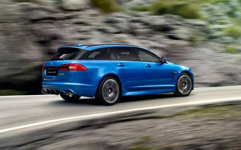 A very hot wagon, the XFR-S Sportbrake is to the XF Sportbrake what the XFR-S is to the XF.
