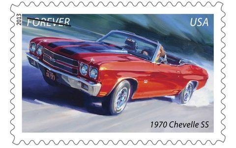 The 1970 Chevrolet Chevelle SS forever stamp.