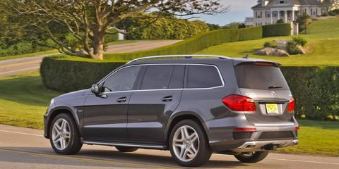 Putting the power to the road in the 2013 Mercedes-Benz GL550 4Matic is a seven-speed automatic transmission dispersing the power to all four wheels.