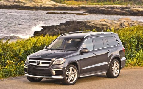 The 2013 Mercedes-Benz GL550 4Matic has a 429-hp twin-turbocharged 4.6-liter V8.