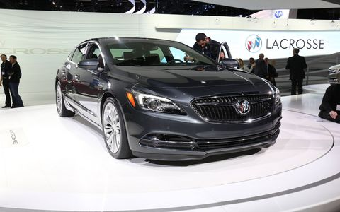 Buick introduced the 2017 LaCrosse at the LA Auto Show.