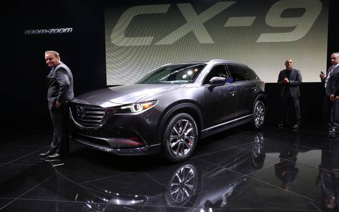 Mazda's new CX-9 arrives in spring with a torquey 2.5-liter turbo, more comfortable seats and a quieter ride.