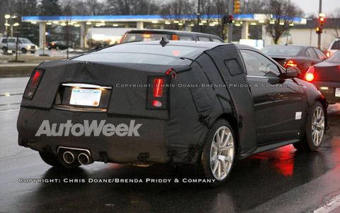 Spied: Cadillac CTS-V coupe