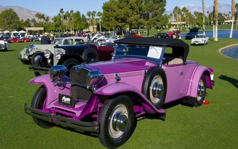A 1929 Ruxton Model C Roadster, owned by the Petersen Museum. Yes, that is the original color. And it's front-wheel drive to boot.