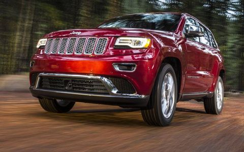 An eight-speed automatic transmission is standard on the 2014 Jeep Grand Cherokee.