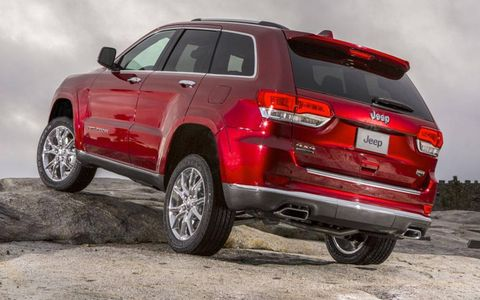 A rear view of the 2014 Jeep Grand Cherokee.