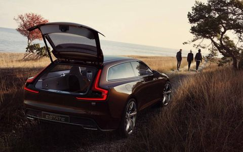 Volvo plucks the heartstrings of auto journalists everywhere with a brown shooting brake.