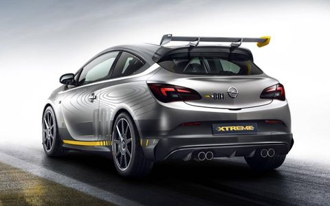 The Opel Astra OPC Extreme is a design study, to gauge interest.