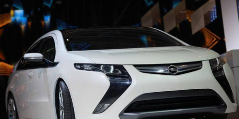 The Opel Ampera uses the range-extending powertrain first shown in the Chevrolet Volt. The Ampera has four seats and five doors. GM is now calling the hybrid powertrain Voltec.