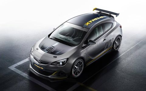 The Opel Astra OPC Extreme uses a 300-hp I4 for power.