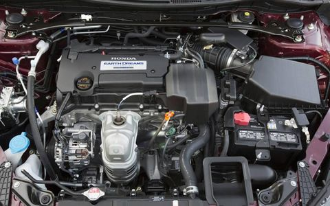 The 2013 Honda Accord EX Sedan has a 2.4-liter backed by a continuously variable transmission.