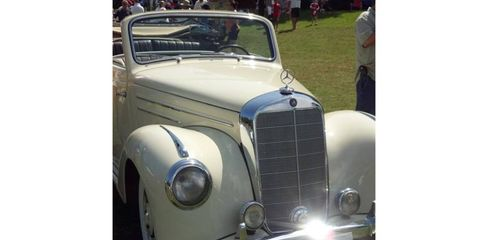 A 1952 Mercedes-Benz 220 convertible at the 2013 Boca Raton Concours d'Elegance.