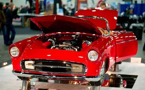 A closer look at the 2012 Ridler Award winner, a 1955 Ford Thunderbird.
