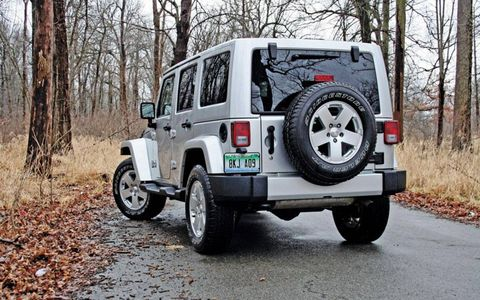 """""""It certainly feels as though Jeep has calmed the chassis quite a bit; it's less bouncy and erratic than the last Wrangler that I remember driving. And I'm sure it's a madman off road."""" - Editor Wes Raynal"""