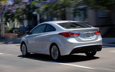 The price of our 2013 Hyundai Elantra SE coupe tester was $20,615.