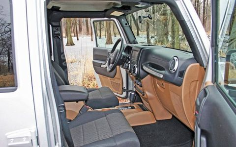 """""""To purists, things such as remote starters, navigation systems and heated seats are blasphemy, but pure off-road enthusiasts aren't the only market for Wranglers--and haven't been for years. """" - Executive Editor Bob Gritzinger"""