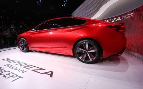 The Subaru Impreza concept foreshadows the company's new design language.