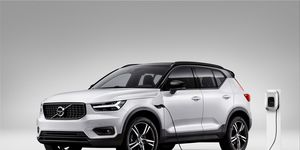 The all-electric XC40 will probably look similar to this plug-in hybrid version of the stylish compact crossover.