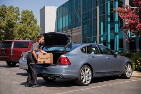General Motors and Volvo are working with Amazon to have your packages delivered directly to your car.