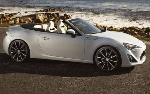 The Toyota FT-86 convertible previews a production car that will show up in Scion and Subaru dealerships.