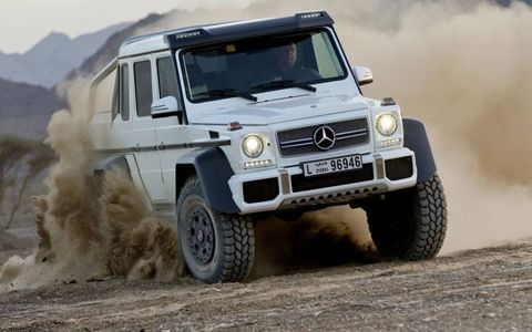 The Mercedes-Benz G63 AMG 6x6 has five differential locks.