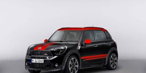 The front of the Mini Countryman John Cooper Works edition.