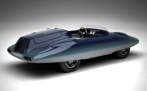 A rendering shows what the Shark roadster will look like when completed.
