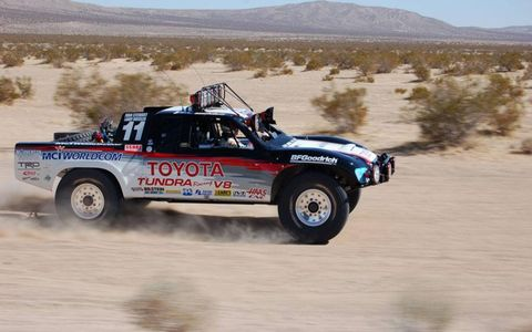 "The restored Toyota Baja 2000 truck of Ivan ""Ironman"" Stewart."