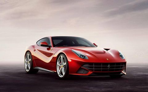 The new Ferrari F12 Berlinetta revealed on Wednesday February 29, 2012.