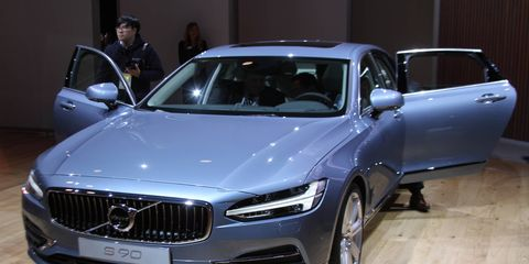 2017 Volvo S90 at the Detroit auto show