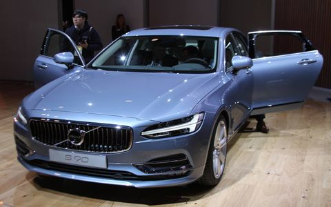 2017 Volvo S90 at the Detroit auto show