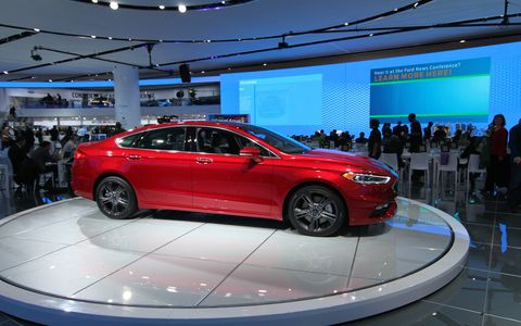 Ford Fusion at the Detroit auto show
