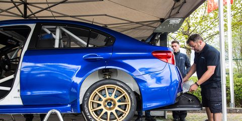 Subaru's Nurburgring record attempt was dashed by rainfall.