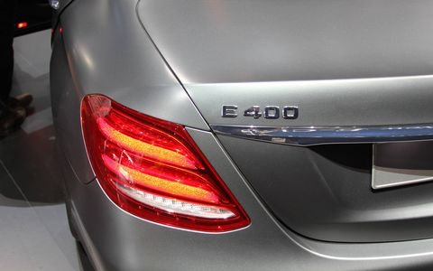 The E-Class at the Detroit auto show.