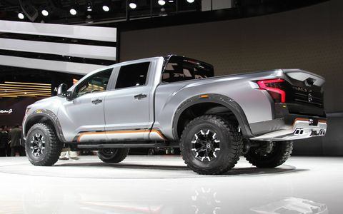 The Nissan Titan Warrior concept debuts at the Detroit auto show.