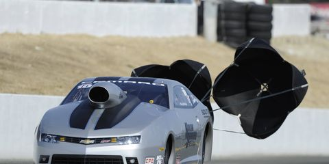 Chris McGaha topped the NHRA Pro Stock field in qualifying on Saturday in Sonoma, Calif.