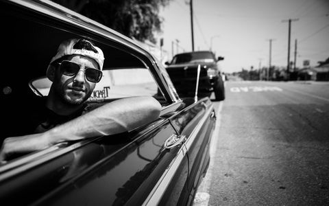 Ricciardo in East L.A. cruising in a Monte Carlo, a different kind of Monte Carlo than he may be used to.