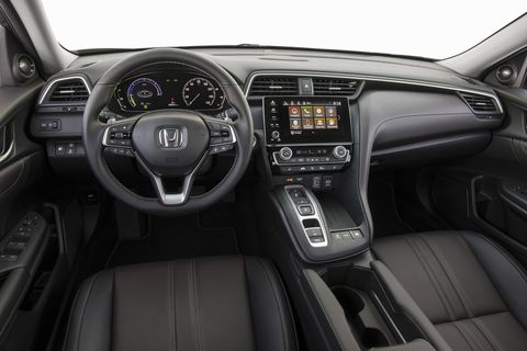 The 2019 Honda Insight will be offered in LX, EX and Touring trims. All LX and EX cars get LED headlights, taillights and daytime running lights and 16-inch wheels; moving up to the range-topping Touring trim adds 17-inch wheels, Honda Satellite-Linked Navigation, a 10-speaker audio system and more.