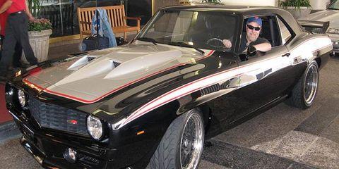 Eric pulls through the valet at the Ren Cen in Detroit.