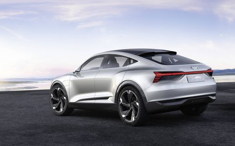 The Audi e-tron Sportback concept makes its debut at the Shanghai auto show.