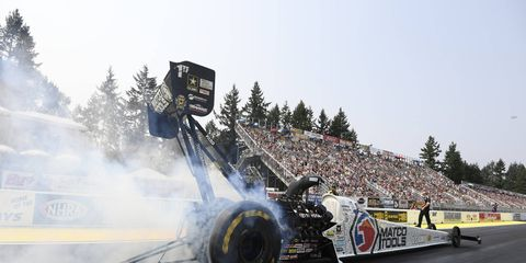 Brown took down Terry McMillen with a 3.776-second pass at 326.48 mph