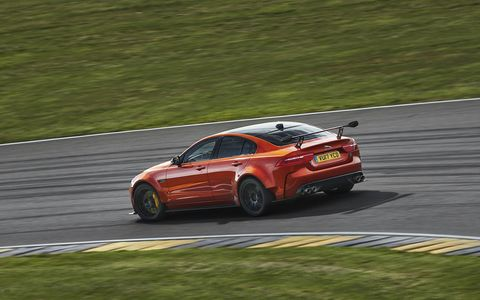 Project 8 features manually adjustable ride height, aerodynamics and Intelligent Driveline Dynamics settings for circuit use. The optional two-seat Track Pack version saves 27 pounds.