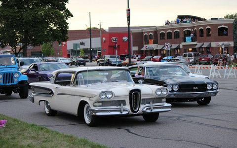 Muscle cars and classic American cruisers make up the bulk of Woodward Dream Cruise crowds.