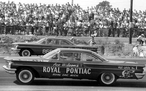 Even before the GTO that bowed in 1964, Pontiacs were winning races at drag strips around the country.