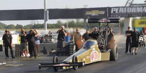 Leah Pritchett comes into the Chevrolet Performance U.S. Nationals in a points tie with Terry McMillen for the 10th and final Countdown spot in Top Fuel.