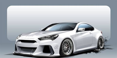 ARK prepared a radical Hyundai Genesis Coupe for 2015's SEMA show. Though the world never asked for a Genesis running on methanol, we're happy someone did it.
